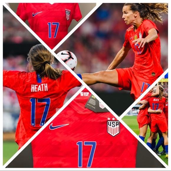 uk availability ff67b df51c Tobin Heath #17 USA Womens Soccer Jersey World Cup